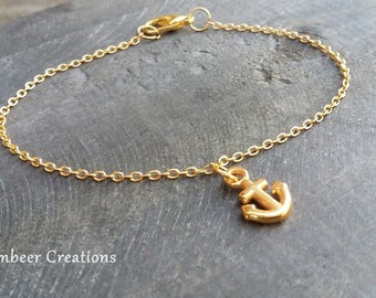 Strap anchor, Golden anchor bracelet, Friendship Bracelet, mother's day, mark bracelet, bracelet gold, bracelet minimalist, gift