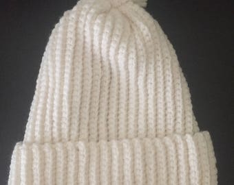 Hat, Crochet Hat, Crochet, Beanie, Pom Pom Hat, Crochet Beanie Hat, Winter Hat