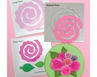 Blooming Roses Quilling Die-Quilled Creations-Quilling Dies-Roses Quilling Die