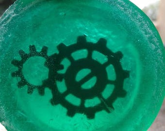 Steampunk- Cogs and gears soap