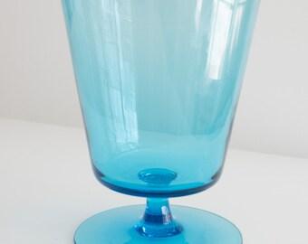 Vintage Minimalist Glass Pedestal Vase