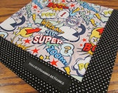 One Off Hank Super Hero Handmade Hank EDC Hank Everyday Carry Pocket Dump Hank Mens Handkerchief Gift for Him