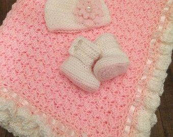 Pink and White Ruffle Set