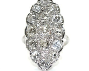 1930 Art Deco Marquise ring