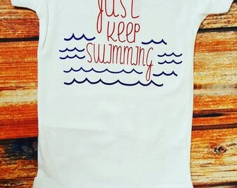 Baby Clothes, Just Keep Swimming Bodysuit