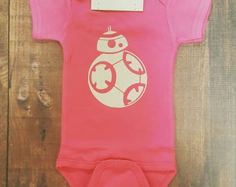 Baby Girl Clothes, Star Wars baby, BB-8 Bodysuit, Newborn Jedi, Infant Outfit