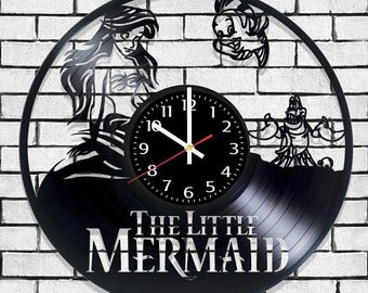 Wall clock the little mermaid, clock on the wall