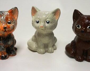Hand-painted ceramic kitten