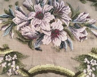 Needlepoint Rug Canvas Preworked Flora