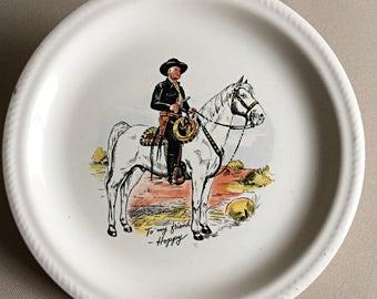 Hopalong Cassidy Plate W.S. George