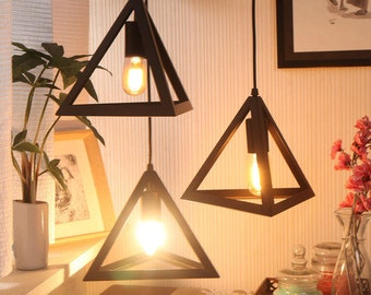 Equilateral Industrial Set of 3 Pendant Lamp