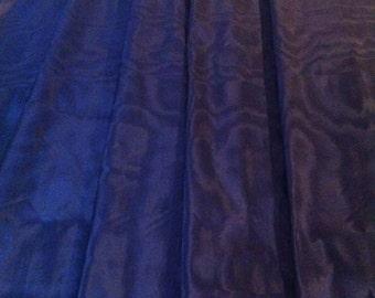 Navy Blue Moire Silk Taffeta 3 meters