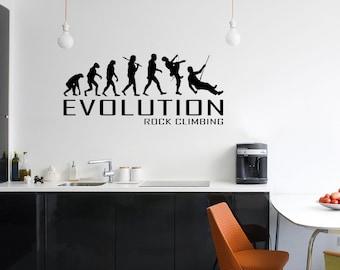 Rock Climbing Vinyl Wall Art Decor 8ft Tall Style 3 rock