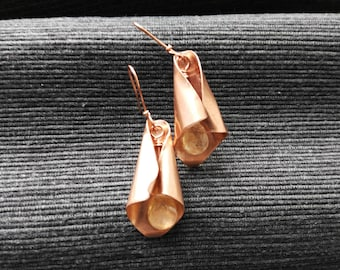 Earrings ~GALADRIEL~ copper and beads