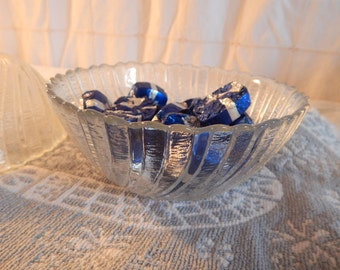 Small Scalloped Glass Candy/Cereal Bowls