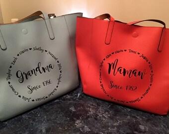 Custom purse, monogrammed purse, quote purse