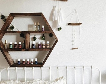 Hexagon Essential Oil Wood Storage