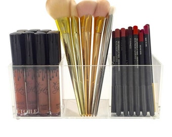 3 Brush Holder Acrylic Makeup Storage