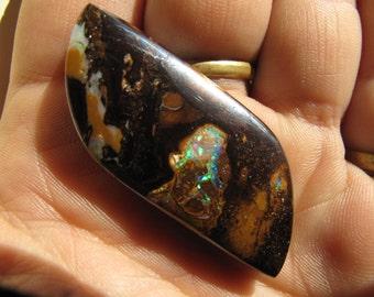 Unique shape Nut boulder opal