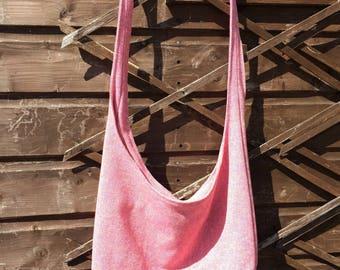 Hobo/beach shoulder bag, fully lined with inside pocket