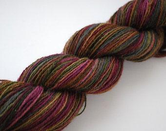 Shetland Pseudo-Self-Striping Handspun Sock Yarn