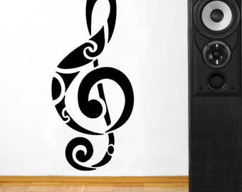 Musical Clef Studio Vinyl Wall Decal Home Decor a88