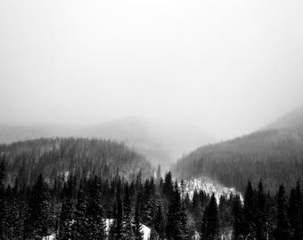 Colorado Mountains, Black and White