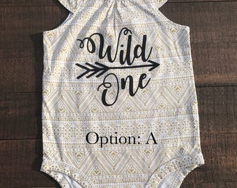 Wild One onsie
