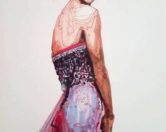 Sasha in a dress