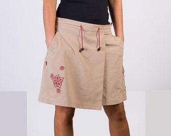 Womans Pant Skirt,Light Mini skirt, Pant Skirt, Boho Hippie Skirts,Pocket skirt, Medium Size