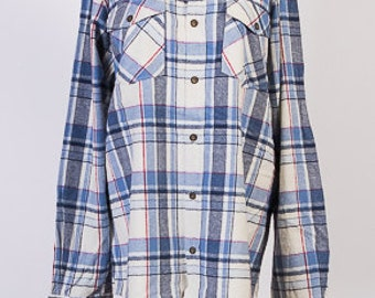 Mens Flannel Shirt, Vintage shirt, Flannel Shirt, Mens size XL,Denim co shirt