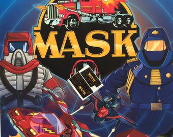 MASK vintage repro die cut stickers/decals/labels for KENNER M.A.S.K Razorback Stickers