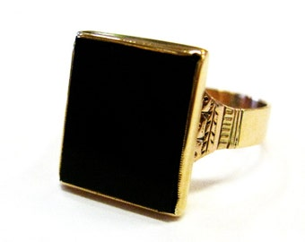 Onyx Victorian 14K Ring - X3111