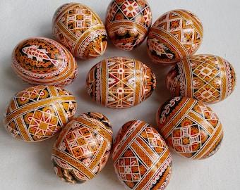 Set of 10 Real Ukrainian handmade Pysanky Easter Egg Ukraine Osterei Pysanka Pisanki egg shell
