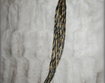 Long Classic DE(doubleended) dreads , two twisted colors, pencilthin