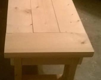 Unfinished Farmhouse Bench