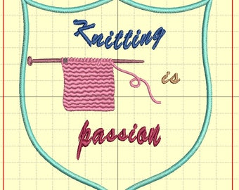 """Embroidery """"knitting is passion"""""""