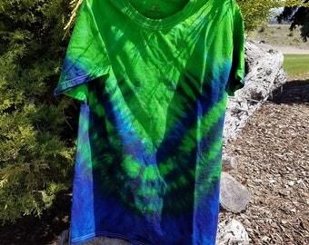 Seattle Seahawks/ V Design/ Tie Dye T-shirt/  Small, Medium, Large, XL, XXL, XXXL T-Shirt Seahawks Tie Dye