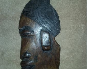 """Wood African Tribal Mask 10"""""""