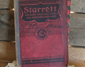 Vintage Tool Guide Booklet Starrett Precision Tools, Garage, Tools, Workbench 1938