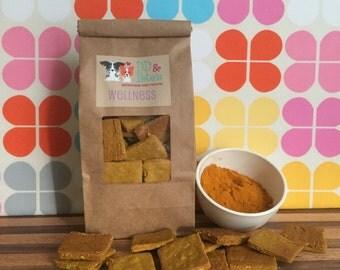 Wellness Dog Treats: Peanut Butter & Turmeric * Gluten Free * Anti-Inflammation * Immune Support