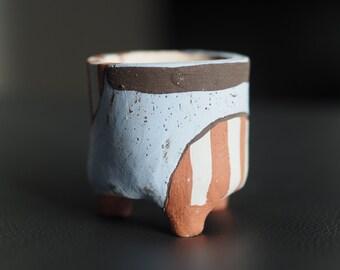 handmade Succulent planter earth planter ceramic clay pot yixi
