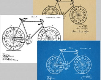 1898 Bicycle Patent Digital Instant Download Art Prints (3)