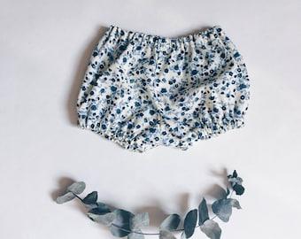 Bloomers baby - pants - cotton flowers - workshop me