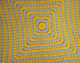 Square Stitch Baby Afghan