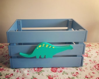Personalised Large Crate Toy Box