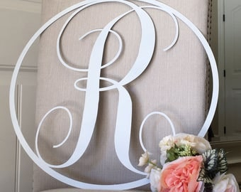 Custom Round Monogram Sign