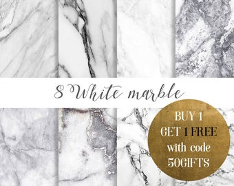 White marble digital paper, White marble paper, Marble paper, marble backgrounds, Stone paper, Black and white marble, marble commercial use