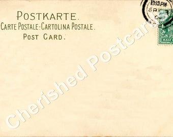Wedding Place Cards Vintage UK Stamp  Plain Postcard Tent Style Place Cards or Table Place Cards #048