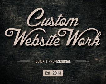 Custom Website Work, On site SEO and Logo Design